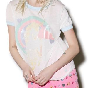Wildfox Tops - ⭐️Reserved⭐️ Wildfox vintage ringer tee L